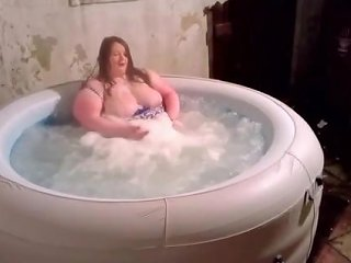 Bbw Ssbbw Shows Off Tits In Hot Tub Wearing Swimsuit