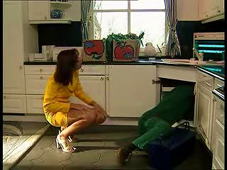 Plumber Gets To Fuck The Hot Housewife