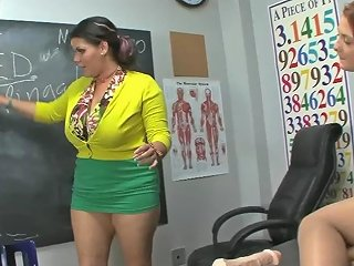 Cuban Bbw Angelina Castro In Pussy Drill Class With Student