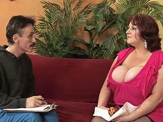 Gilf With A Huge Melons Pounding With A Mustache Dude